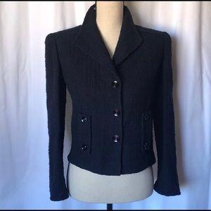 VALENTINO Navy Tweed Jacket